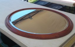 "Solid Wood Oval Mirror 31 3/4"" x 25 1/2"" in Camp Lejeune, North Carolina"