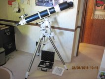 Celestron omniXLT120 refractor telescope with equatorial mount in Alamogordo, New Mexico