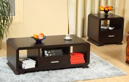 COOL LOOKING COFFEE AND END TABLE SET in Riverside, California