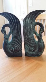 Brass swan bookends in Shorewood, Illinois