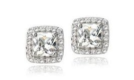 ***BRAND NEW***Positively RAVISHING 2.50 CTTW Cushion-Cut White Topaz Earrings*** in The Woodlands, Texas