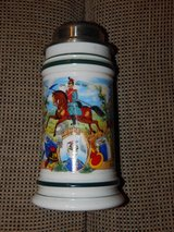 Vintage German Cavalry BMF Lidded Beer Stein in Stuttgart, GE