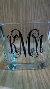 Monogram candle holders in Byron, Georgia