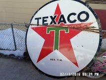 vintage 1947 texaco porcelin 72 inch oval double sided sign rare in Alamogordo, New Mexico