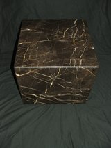 Marble Cube Table Sculpture Pedestal Fine Art Display Base in Oswego, Illinois