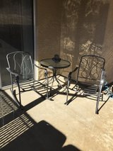 Patio table set in 29 Palms, California