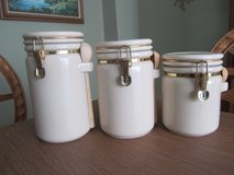 Ceramic 3 pc. Canister set in Naperville, Illinois