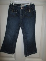 Old Navy Blue Denim Boot Cut Jeans Size 2T Toddler Girl Cotton Adjustable Waist in Plainfield, Illinois