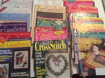 23 just cross stitch mags w/binder in Aurora, Illinois