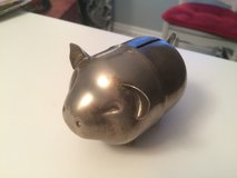 Vintage Napier Silver plated Metal Brass Pig Figure Piggy Coin Bank in Lockport, Illinois