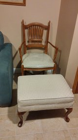 Ethan Allen Chair and Ottoman in New Lenox, Illinois