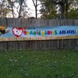 original 1998 ty teenie beanie babies outside advertising sign. could be one of a kind in Bellaire, Texas