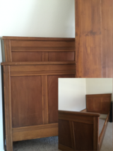 Antique wood bed frame in Lawton, Oklahoma