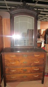 Antique Chest of Drawers with Lions Mirror in Ramstein, Germany