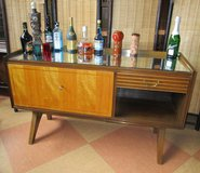 Mid Centrury Designer Bar Cabinet with Mirrored Top in Ramstein, Germany