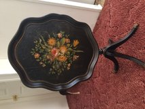 Hand painted side table in Beaufort, South Carolina