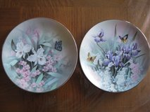 "2 ""Jewel of the Flowers"" plates by T.C.Chiu in Chicago, Illinois"