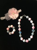 Pink & Gray gumball necklace set in Vista, California