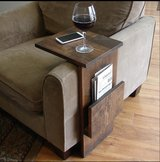 Wood sofa couch arm rest tray table in Camp Lejeune, North Carolina