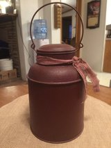 Red Tin w/Lid & Handle in Sandwich, Illinois