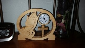 Hand made praying hands clock in O'Fallon, Missouri