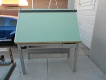 Stacor Drafting Table, 56.6 Inch Wide, 38.5 Inch Deep, 36 Inch Tall, Two Drawers in Alamogordo, New Mexico