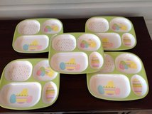 Set of 5 Divided Easter Plates for Kids - Melamine in Aurora, Illinois