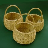 "VTG OVAL WICKER / WILLOW  BASKET 8"" HI in Chicago, Illinois"