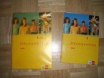 French book set 1 and 2 plusklett vocabulary booklet and novel in Ramstein, Germany