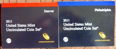 2011 US Mint P&D Uncirculated 28 Coin Set in Baumholder, GE