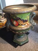 2 Fruit/Lion Vases in Palatine, Illinois