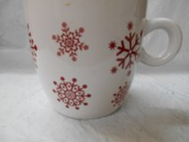 California Pantry Holiday Red Snowflakes Extra Large Mug in The Woodlands, Texas