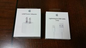 Apple iPhone charger set in Fort Irwin, California