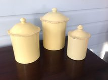 Vietri Italian Canister Set (small, medium, and large) - Yellow in St. Charles, Illinois