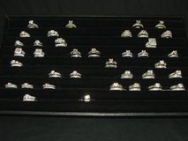 Wedding Ring Sets Sterling Silver with Rhodium Plating Assorted Selection in Aurora, Illinois