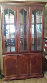 Beautiful! Cherry Finish China Cabinet in Baytown, Texas