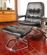 Leather Lounge  Chair with Footstool in Ramstein, Germany