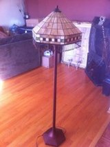 Stained glass floor lamp in Bolingbrook, Illinois