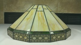 Hamilton Bay Tiffany Style stained glass wall scone light in Joliet, Illinois