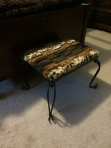 Metal Framed Foot Stool in Kansas City, Missouri