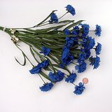 "SILK FLOWERS: 5 Cornflower Blue Bachelor Button Sprays, 24"" long in St. Charles, Illinois"