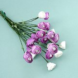 "ARTIFICIAL SILK FLOWERS: 8 Lavender & White Bud Sprays, 18"" long in St. Charles, Illinois"