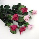 "7 ARTIFICIAL SILK FLOWERS: Long Stem Rose Sprays, 27"" long in St. Charles, Illinois"