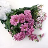 5 PINK / MAUVE ARTIFICIAL FLOWER BUSHES / SPRAYS - NEW in St. Charles, Illinois