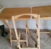 2 side solid wood table with stand in Fort Polk, Louisiana