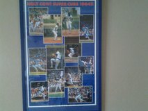 Vintage Chicago Cubs framed poster Holy Cow! Super Cubs 1984 ! in Joliet, Illinois