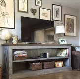 Wood X frame console table buffet farm house style in Camp Lejeune, North Carolina