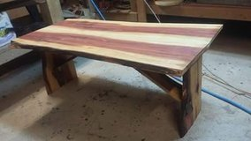 Rough cut cedar coffee table in Kansas City, Missouri