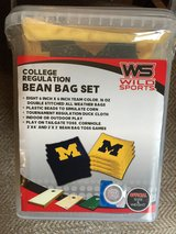 BB XL Michigan Bean Bag Set College & 2 matching Wall Plaques in Glendale Heights, Illinois