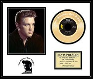 """Elvis Presley """"Love me Tender"""" framed 24K Gold plated 45 rpm Record, in Las Cruces, New Mexico"""